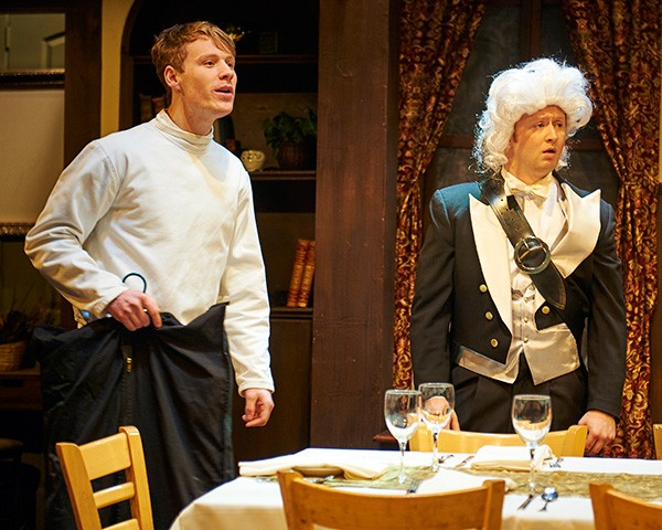Dash Barber and Christopher Borek in Steep Theatre's Posh