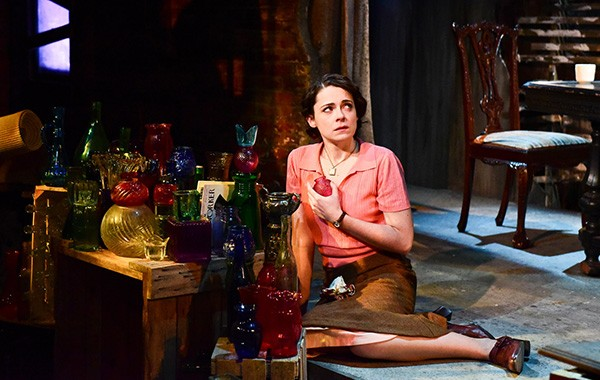 Joanne Dubach in Hans Fleischmann's reinvented Glass Menagerie, at the Hypocrites - EVAN HANOVER