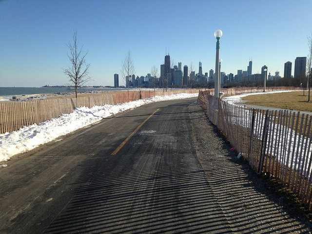 A section of the trail near Fullerton was relocated so waves won't crash into it. - JOHN GREENFIELD