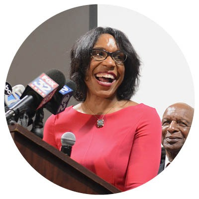 "A campaign ad ripped Juliana Stratton as ""a puppet—a pet for Rahm Emanuel."" Apparently, it was ineffective; she won with 68 percent of the vote. - BRIAN JACKSON/SUN-TIMES"