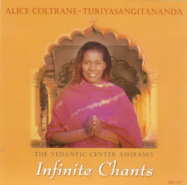The cover of Infinite Chants by Alice Coltrane, also known as Turiyasangitananda