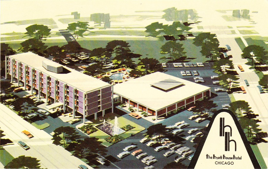 A postcard for the Purple Hotel, printed around the time it opened in 1960 - SUN-TIMES ARCHIVE
