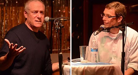 Ben Joravsky and Mick Dumke talk CPS at this month's First Tuesday. - COURTESY THE HIDEOUT