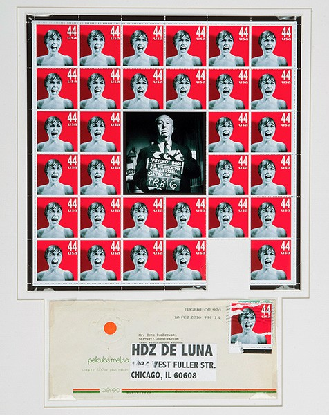 A new set of phony stamps by Michael Hernandez de Luna on display through 5/14. - COURTESY THE ARTIST/CARL HAMMER GALLERY