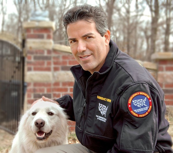 Wayne Pacelle of the Humane Society of the United States speaks on Tue 5/3 at the Lincoln Park Zoo. - PAUL TURNER