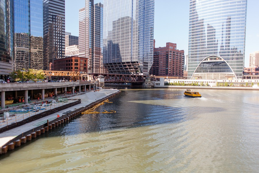 The Riverwalk, as seen from Wacker Drive and Orleans Street - DANIELLE A. SCRUGGS