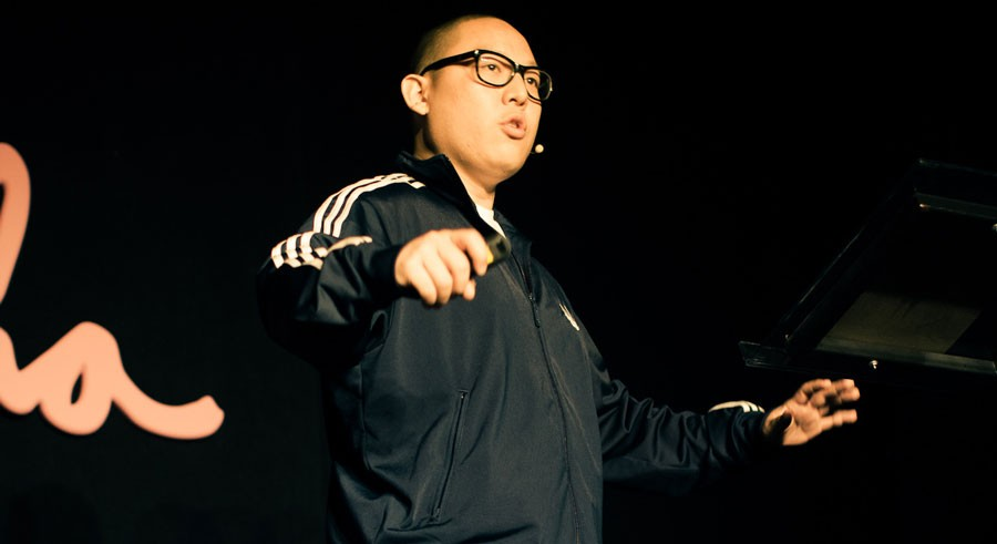Rockstar chef Eddie Huang reads from his latest book, Double Cup Love, at the Chop Shop. - SILICON PRAIRIE NEWS FLICKR / LIBRARY OF CONGRESS