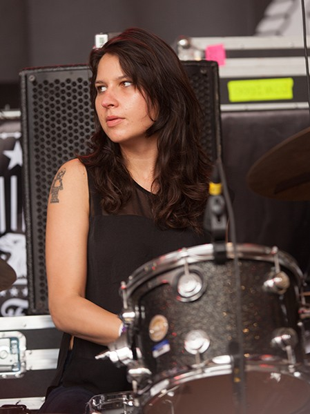 Warpaint drummer Stella Mozgawa at South by Southwest in 2014 - ANNA HANKS / FLICKR