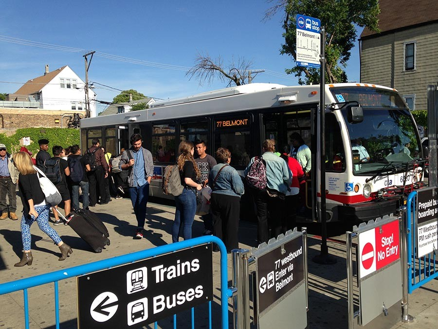 Prepaid Bus Boarding Debuts On Belmont But Why Doesn T