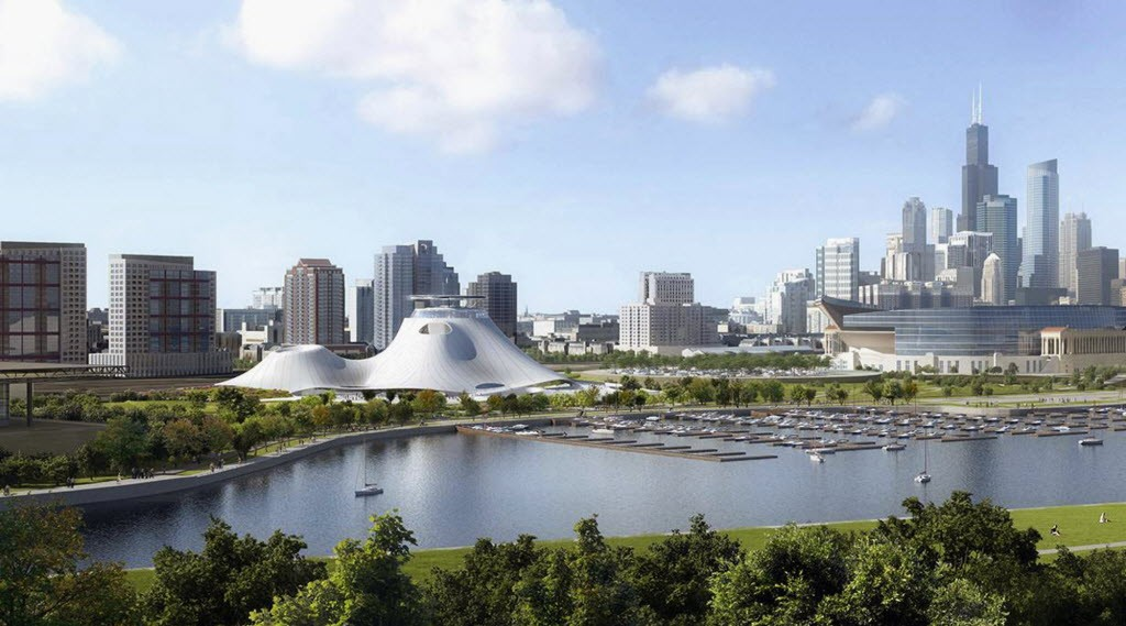 Artist's rendering of the proposed Lucas Museum of Narrative Art - LUCAS MUSEUM OF NARRATIVE ART VIA AP