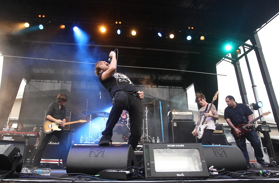 Geoff Rickly fronts the band Thursday at Soundwave 2012 in Sydney, Australia. - GETTY IMAGES
