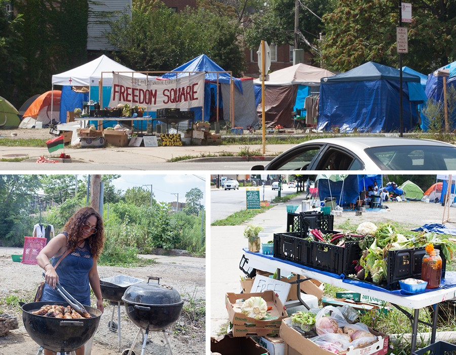 At the Freedom Square encampment, organizers put their abolitionist ideals into practice by providing free food and education for the community. - DANIELLE A. SCRUGGS