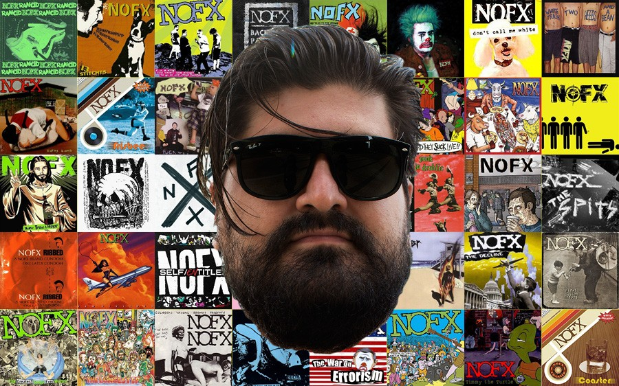 Reader staffer Luca Cimarusti binged on NOFX and lived to tell the tale. - SUNSHINE TUCKER; PHOTO ILLUSTRATION: SUE KWONG