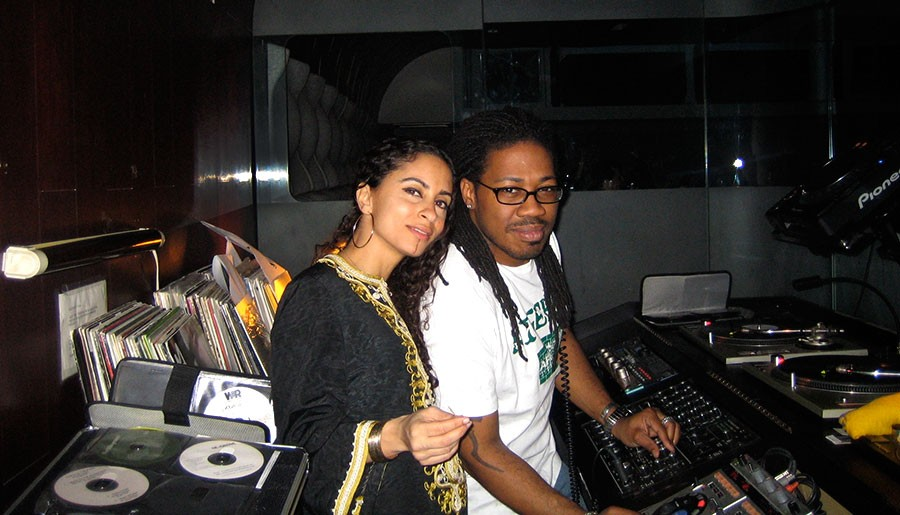 Africa Hi-Fi cofounders Sonia Hassan and Ron Trent at Sonotheque in 2006 - COURTESY OF SONIA HASSAN