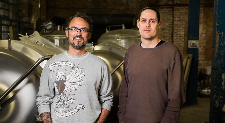 Dave Dahl (left) and Kevin Lilly of Lo Rez Brewery - LEARCO DESIGN