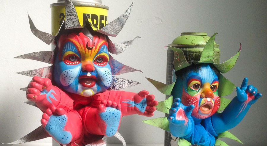 "Mac Blackout's Graffiti Babies are part of the Chicago Truborn exhibit ""Can I Kick It?"" - COURTESY THE ARTIST"