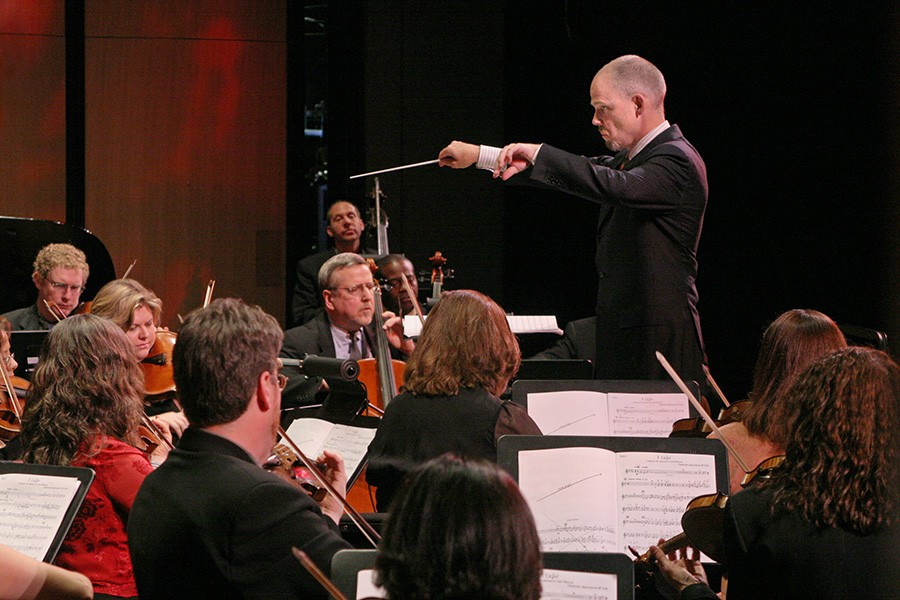 Stephen Burns conducts Fulcrum Point. - DAVID CORTEZ