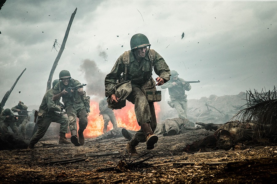 In Hacksaw Ridge, a conscientious objector must prove himself in battle