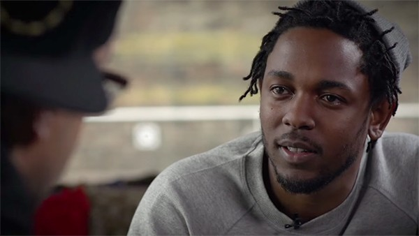"Kendrick Lamar discusses ""The Blacker the Berry"" with MTV in 2015. - VIA MTV'S YOUTUBE CHANNEL"