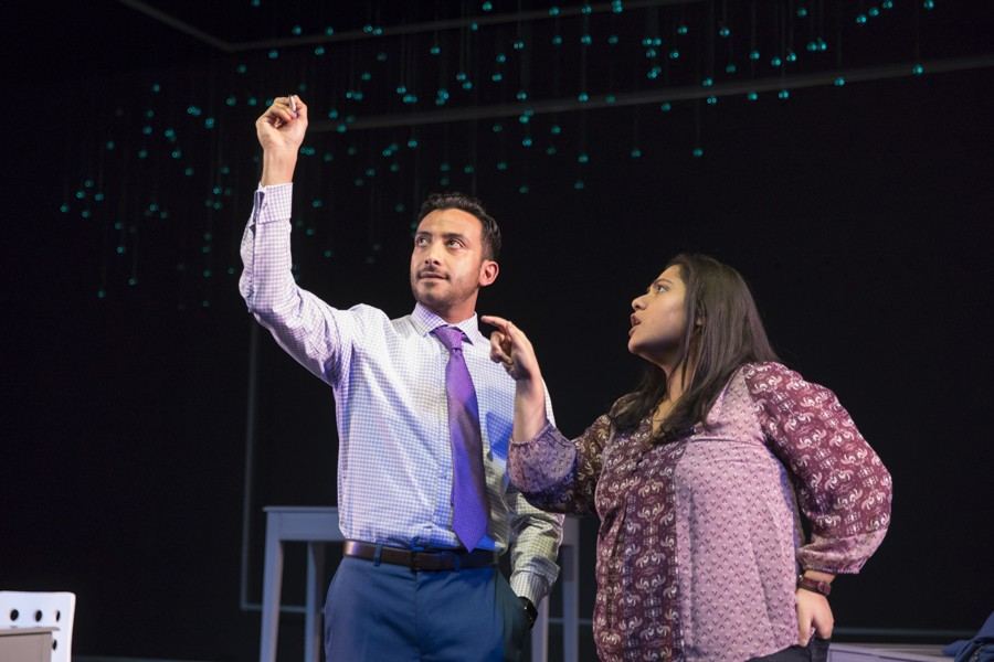 Adam Poss and Priya Mohanty in Victory Gardens' Queen - LIZ LAUREN