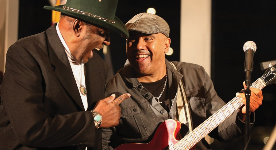 "Ronnie Baker Brooks (right) with Eddy ""the Chief"" Clearwater - SCOTT OLSON/GETTY IMAGES"