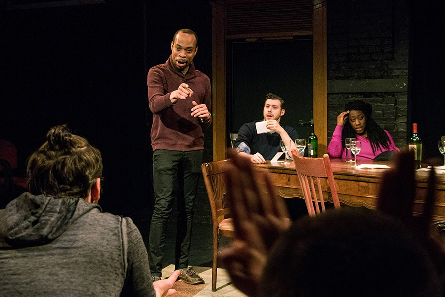 At the Table - COURTESY BROKEN NOSE THEATRE