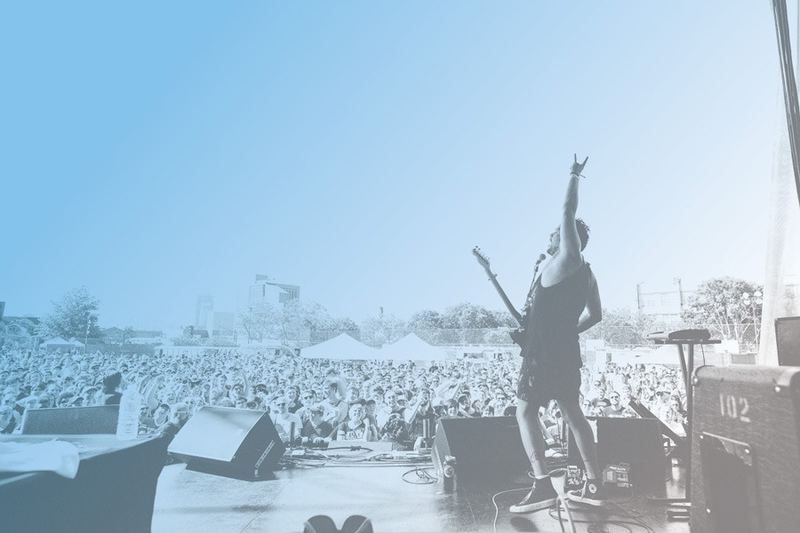Jeff Rosenstock has a problem with music festivals—but not that big a problem. - AMANDA FOTES