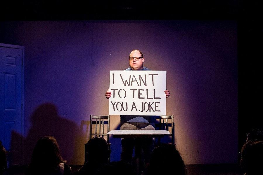 Michael Manning in Sad Clown, at the Annoyance - NIKKI LOEHR