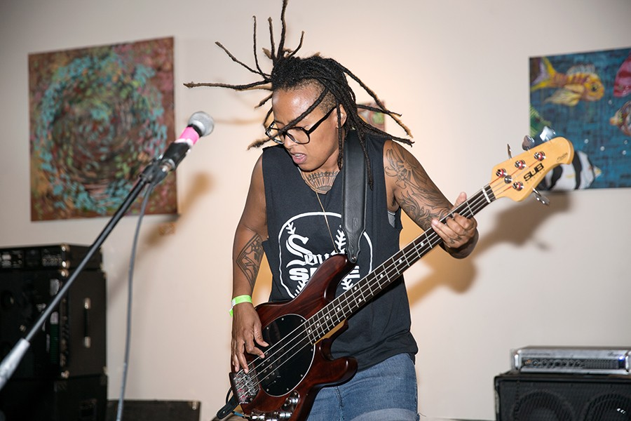 Bassist Selma of Chicago band Slop Sink - ERIC STROM / GLITTERGUTS