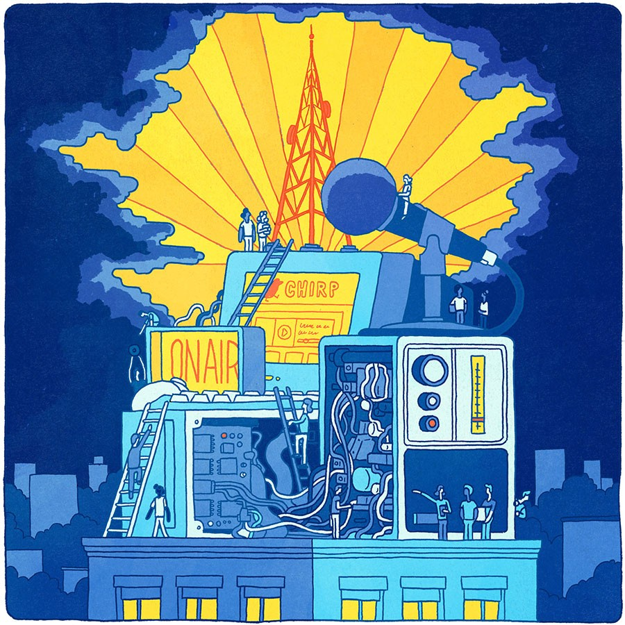 If all goes to plan, CHIRP will begin broadcasting at 107.1 FM in October. - ILLUSTRATION BY BOBBY SIMS