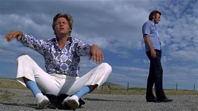 Jeff Bridges and Clint Eastwood in Thunderbolt and Lightfoot (1974), which screens at Noir City on Sunday at 6:30 PM