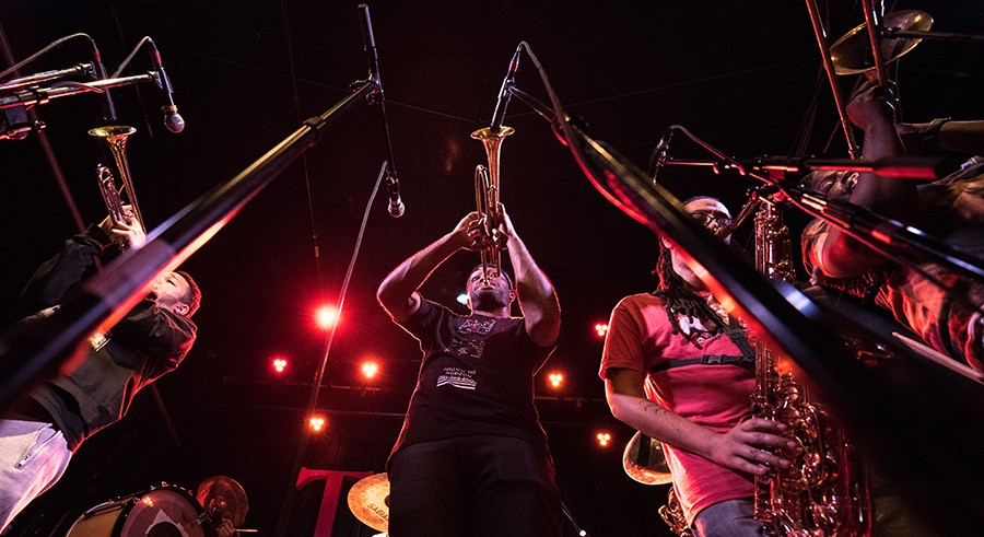 The Rebirth Brass Band plays Sunday at 8:30 PM at Pritzker Pavilion. - COURTESY THE ARTIST