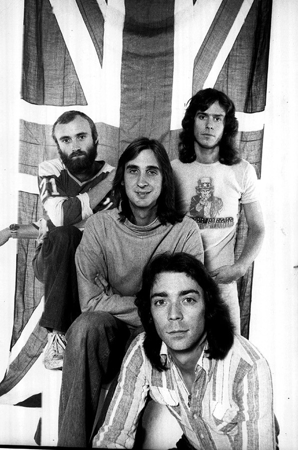 Genesis in 1976, with a bearded Phil Collins, not long after the departure of Peter Gabriel - SUN-TIMES PRINT COLLECTION