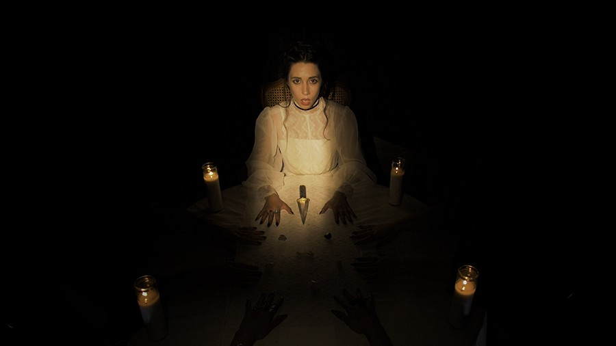 "Jessica Marks in the video for her song ""Fuck the Clock,"" filmed in an allegedly haunted mansion in Massillon, Ohio - EMILY ESPERANZA"