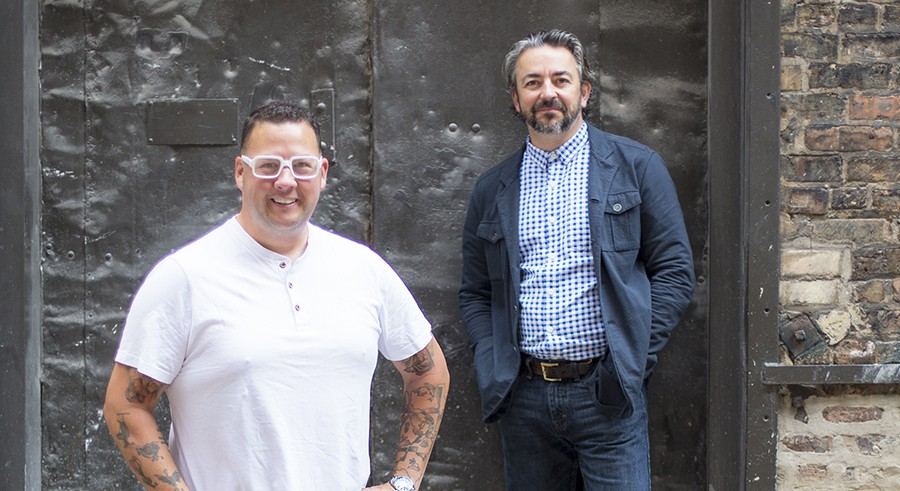 Graham Elliot and Matthias Merges of Gideon Sweet - MIKE RIVERA