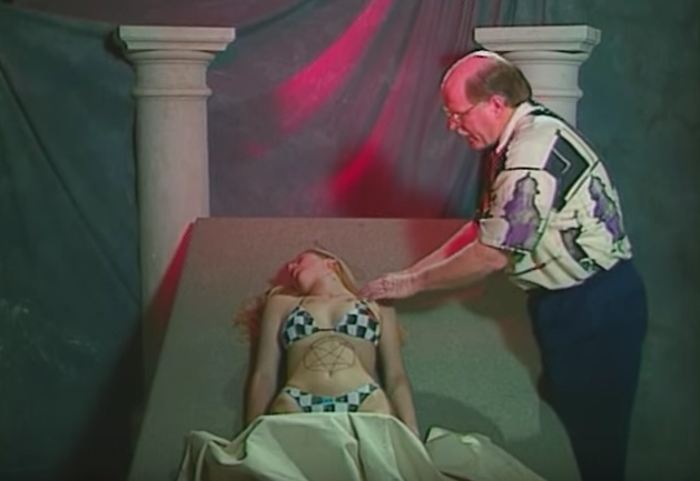 We're not quite sure how this particular moment made it into the instructional video The Law Enforcement Guide to Satanic Cults. Find out at the Found Footage Festival on Friday 10/6. - COURTESY OF FOUND FOOTAGE FESTIVAL