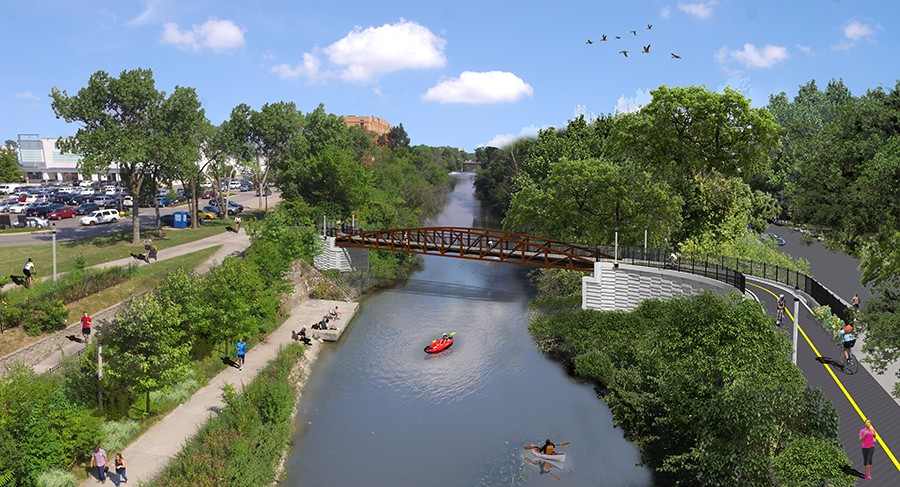 Rendering of the Lincoln Village Pedestrian Bicycle Bridge - CHICAGO DEPARTMENT OF TRANSPORTATION