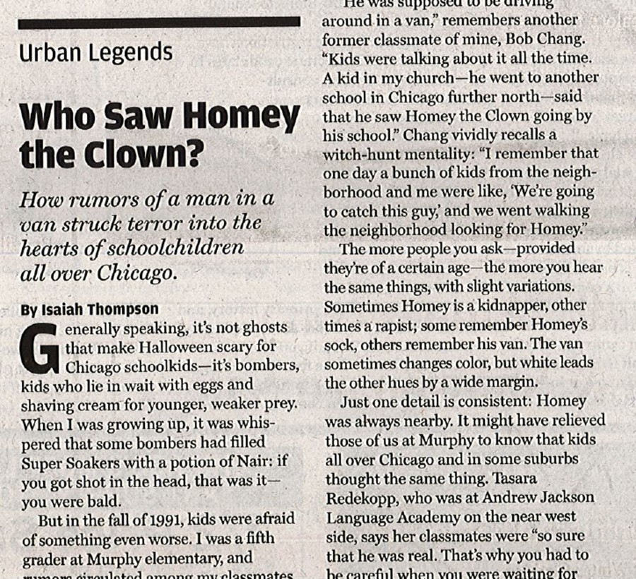 Urban Legends/ Who Saw Homey the Clown? | Our Town | Chicago