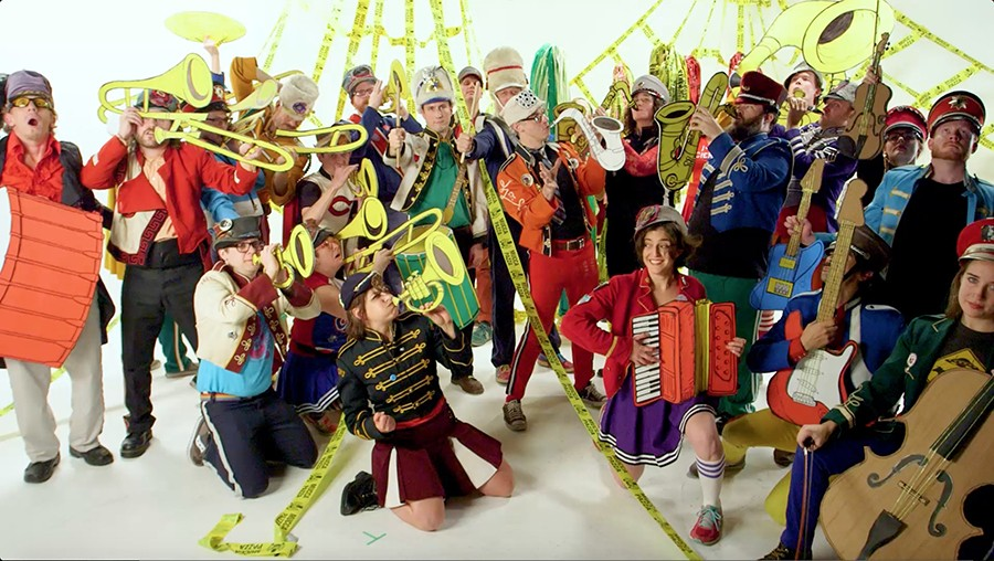 Mucca Pazza (or a majority thereof) in their new video - COURTESY THE ARTIST