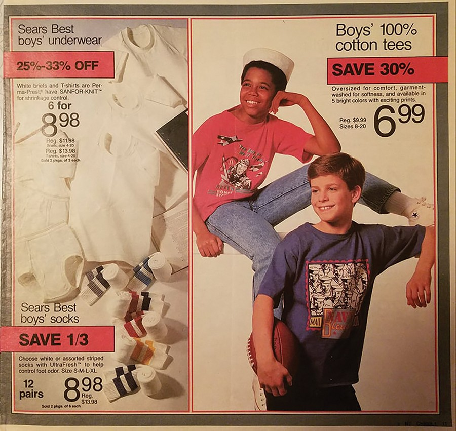 This Sears ad features a young Mark Grusane and future actor Chris O'Donnell, who played Robin intwo 1990s Batman movies.
