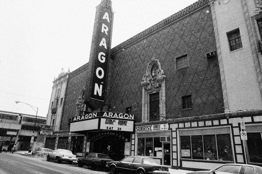 The Aragon Ballroom, circa the December 1990 show with Public Enemy and Sonic Youth - CHICAGO SUN-TIMES