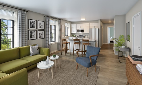 All-new Lathrop apartments will include stainless steel appliances, quartz kitchen counter tops, and in-unit washers and dryers. - LATHROP COMMUNITY PARTNERS