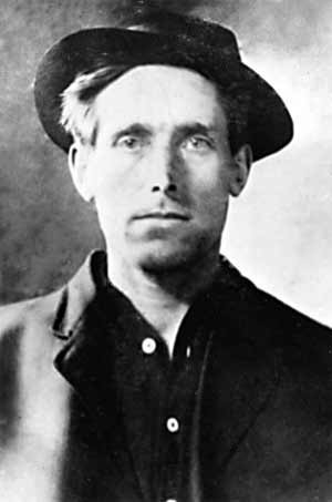 Labor activist Joe Hill wrote many of the most enduring anthems in the IWW's Little Red Songbook. - UTAH DIVISION OF ARCHIVES AND RECORDS SERVICE
