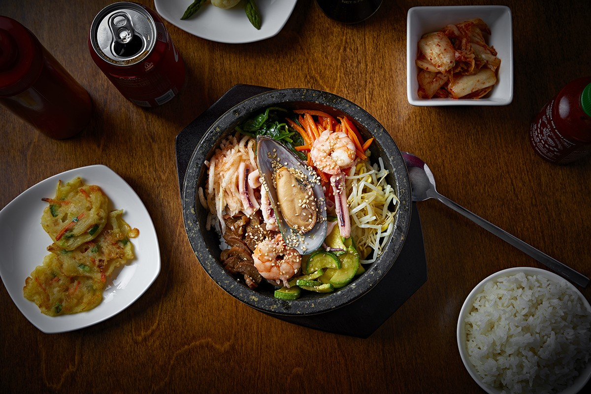 Click To Enlarge Paejeon Savory Pancakes Haemul Dolsot Bip Seafood Kimchi
