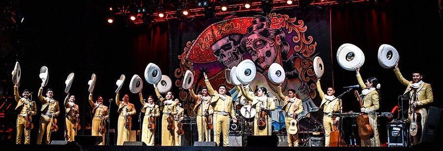 Mariachi Herencia de Mexico open for Los Lobos at Joe's Live in Rosemont on April 5. - CAROLINA SANCHEZ