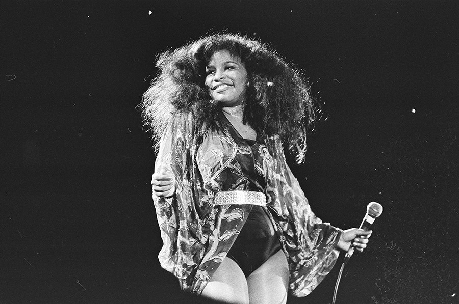 Chaka Khan performs at ChicagoFest on Navy Pier in 1981, the year before she quit Rufus to devote herself full-time to her solo career. - CHICAGO SUN-TIMES
