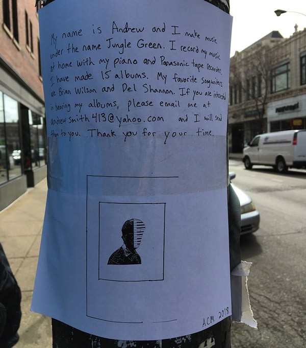 One of Smith's flyers, spotted on Milwaukee near Diversey on March16, 2018 - LEOR GALIL
