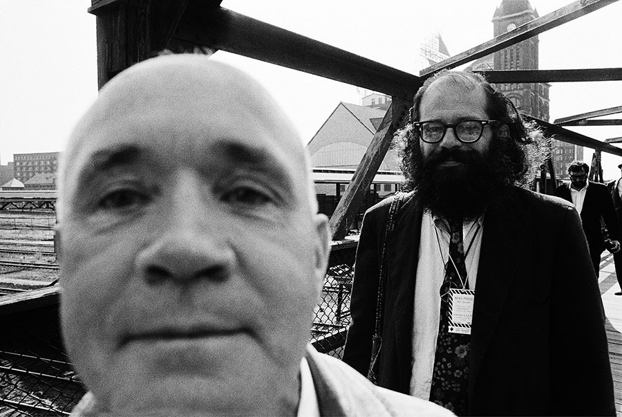 Jean Genet (who spoke no English) and Allen Ginsburg - MICHAEL COOPER