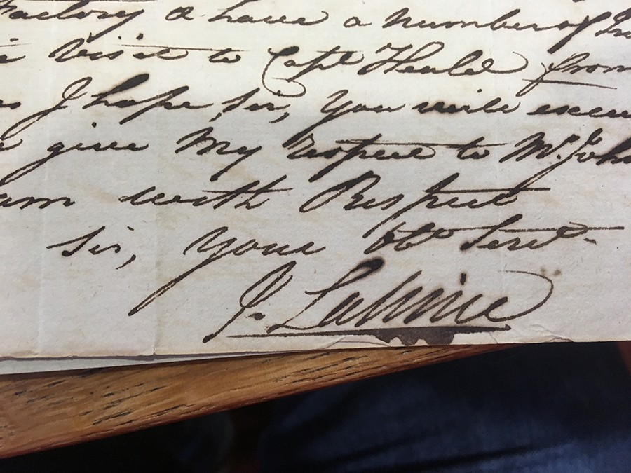 Jean Lallime's signature - NEWBERRY LIBRARY