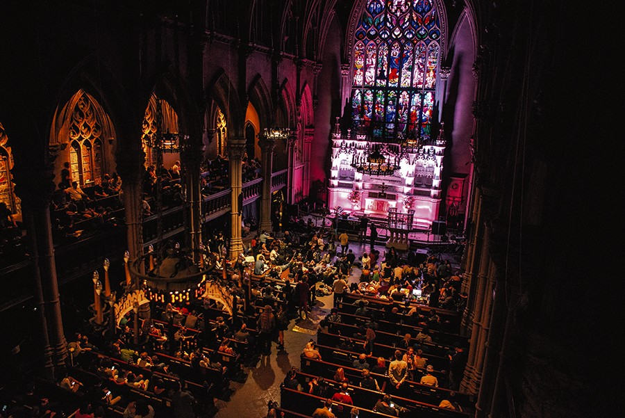 An Ambient Church concert with Robert Rich, celebrating the 2018 autumnal equinox at Saint Ann & the Holy Trinity in Brooklyn - JULIA DRUMMOND